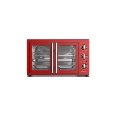 1800 W 6-Slice Retro Toaster Oven in Hot Rod Red with Air Fry Total Fry 360, Dehydrate, Rotisserie