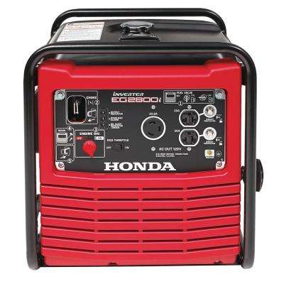 2,800-Watt Gasoline Powered Portable Inverter Generator with Eco-Throttle and Oil Alert