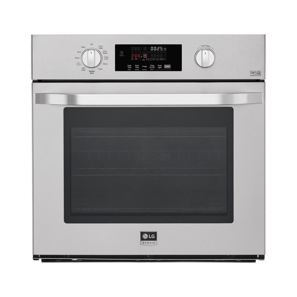 LG STUDIO 29.75 Single Electric Wall Oven with Convection Self Cleaning in Stainless Steel, Silver LG STUDIO 29.75 Single Electric Wall Oven with Convection Self Cleaning in Stainless Steel, Silver