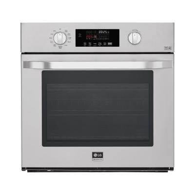 29.75 Single Electric Wall Oven with Convection Self Cleaning in Stainless Steel
