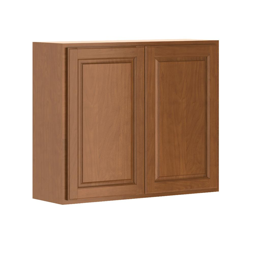 Hampton bay madison assembled 36x30x12 in wall cabinet in for Assembled kitchen units
