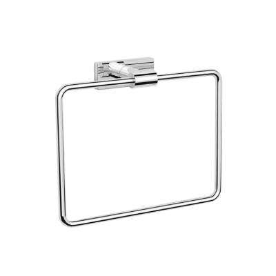 Boutique Hotel Wall Mounted Towel Ring in Chrome