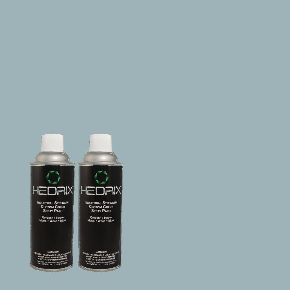 Hedrix 11 oz. Match of CH-28 Ticking Flat Custom Spray Paint (2-Pack)