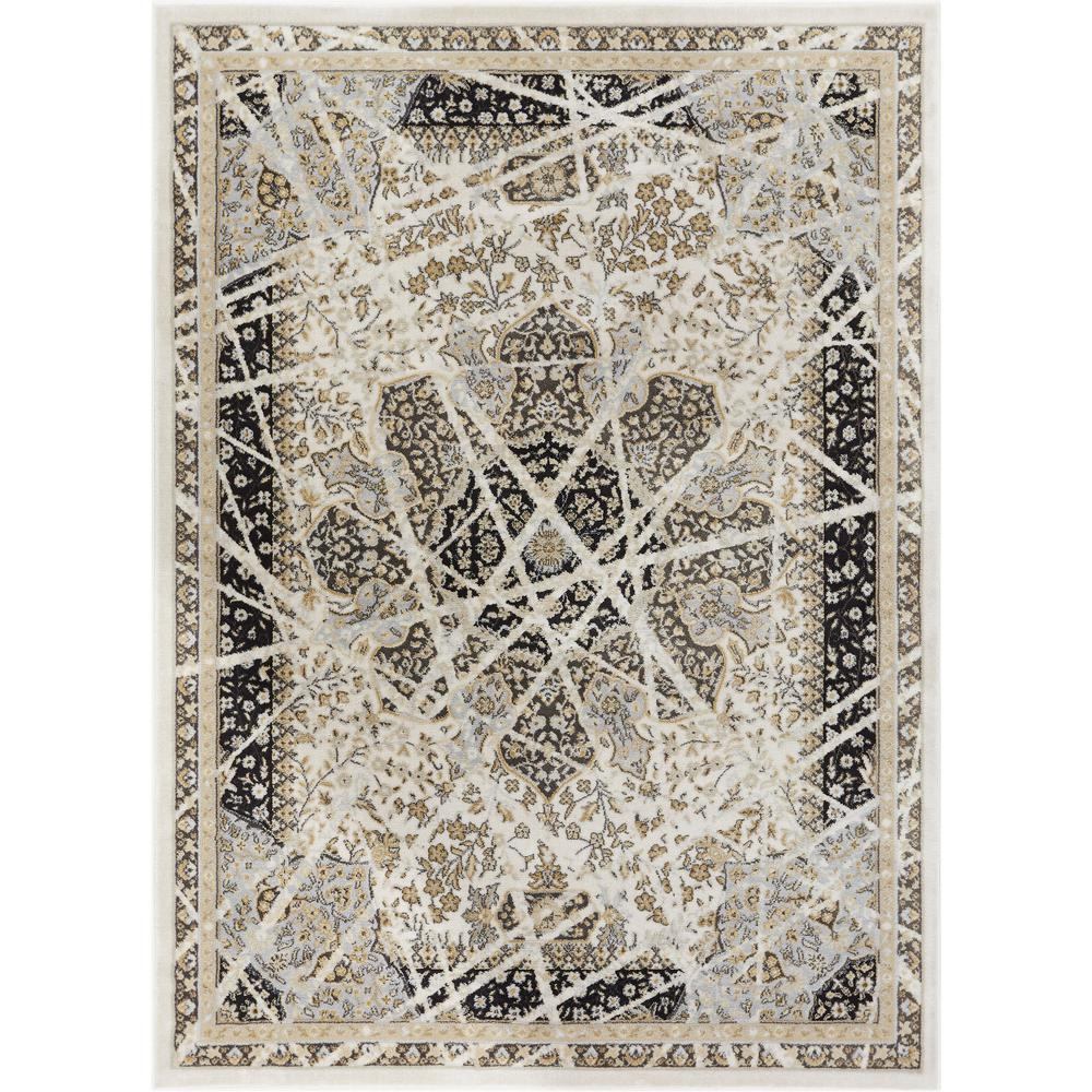 Well Woven Hughes Marco 5 ft. x 7 ft. Traditional Vintage Distressed ...