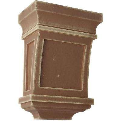 5 in. x 7 in. x 3 in. Weathered Brown Santa Fe Wood Vintage Decor Corbel