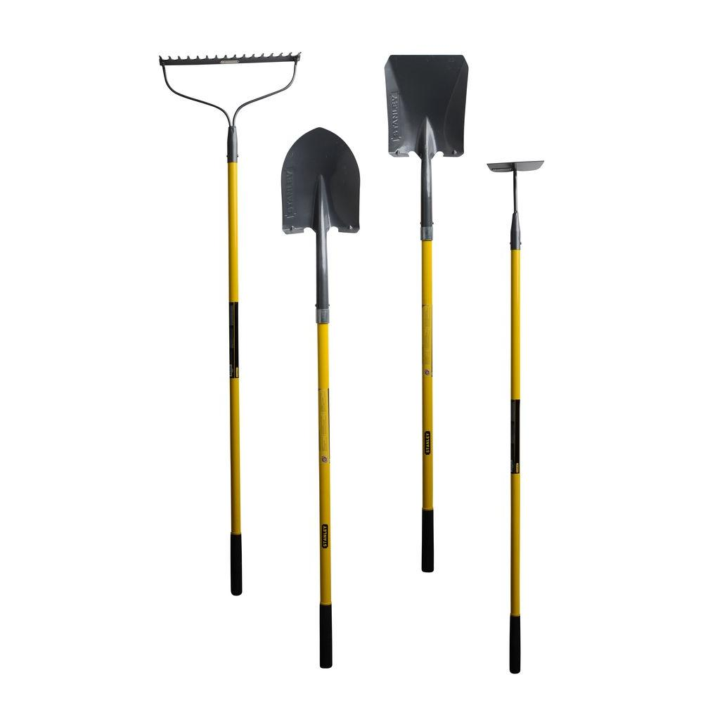 Stanley long handle tool combo 4 piece bds7002 the for Long handled garden tools