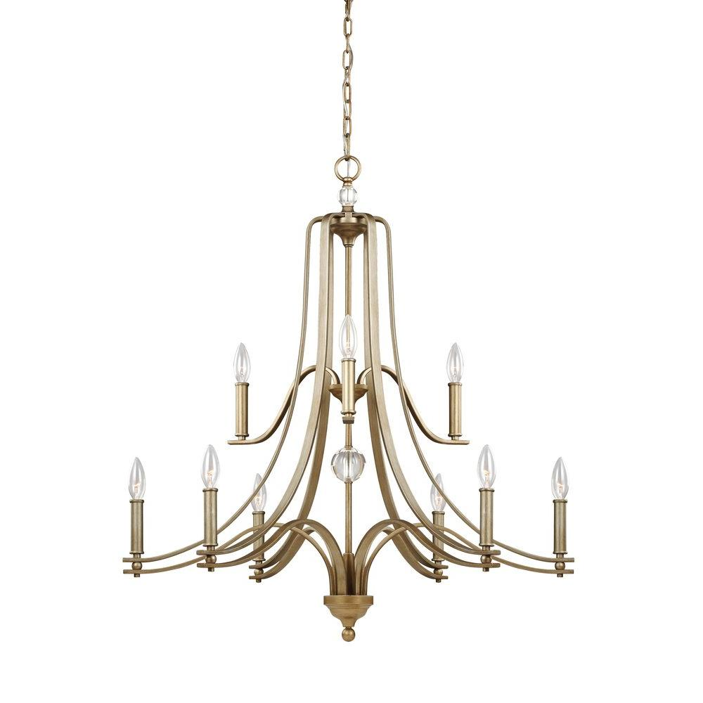 Evington 9-Light Sunset Gold Multi-Tier Chandelier Shade