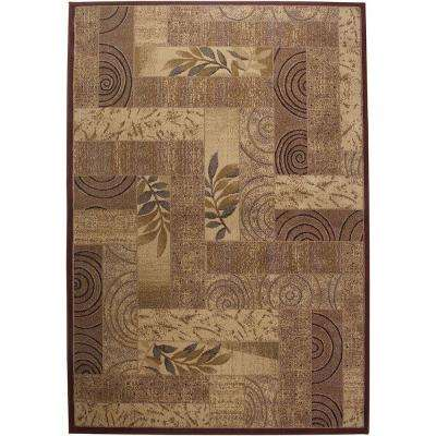 Bellevue Collection Rust/Beige 3 ft. x 5 ft. Area Rug