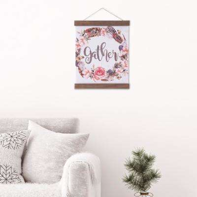 Gather Floral Hanging Canvas Print Canvas Wall Art