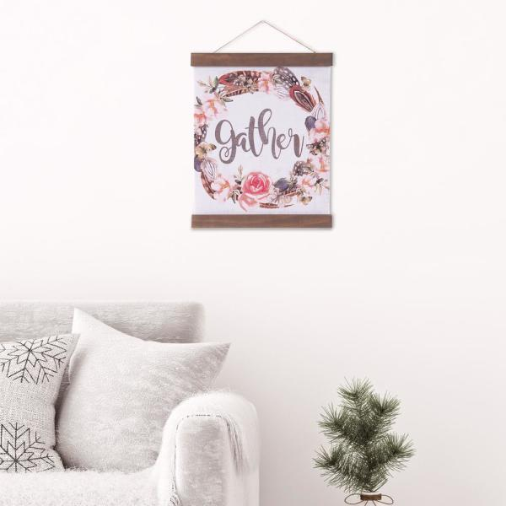 Pinnacle Gather Floral Hanging Canvas Print Canvas Wall Art
