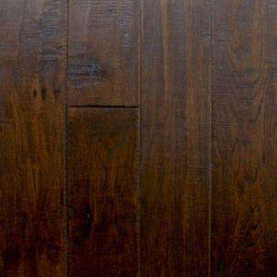 Take Home Sample - Hand Scraped Hickory Chestnut Solid Hardwood Flooring - 5 in. x 7 in.