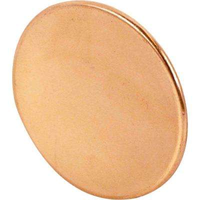 1-3/4 in. Brass Bi-Fold Door Knobs (2-Pack)