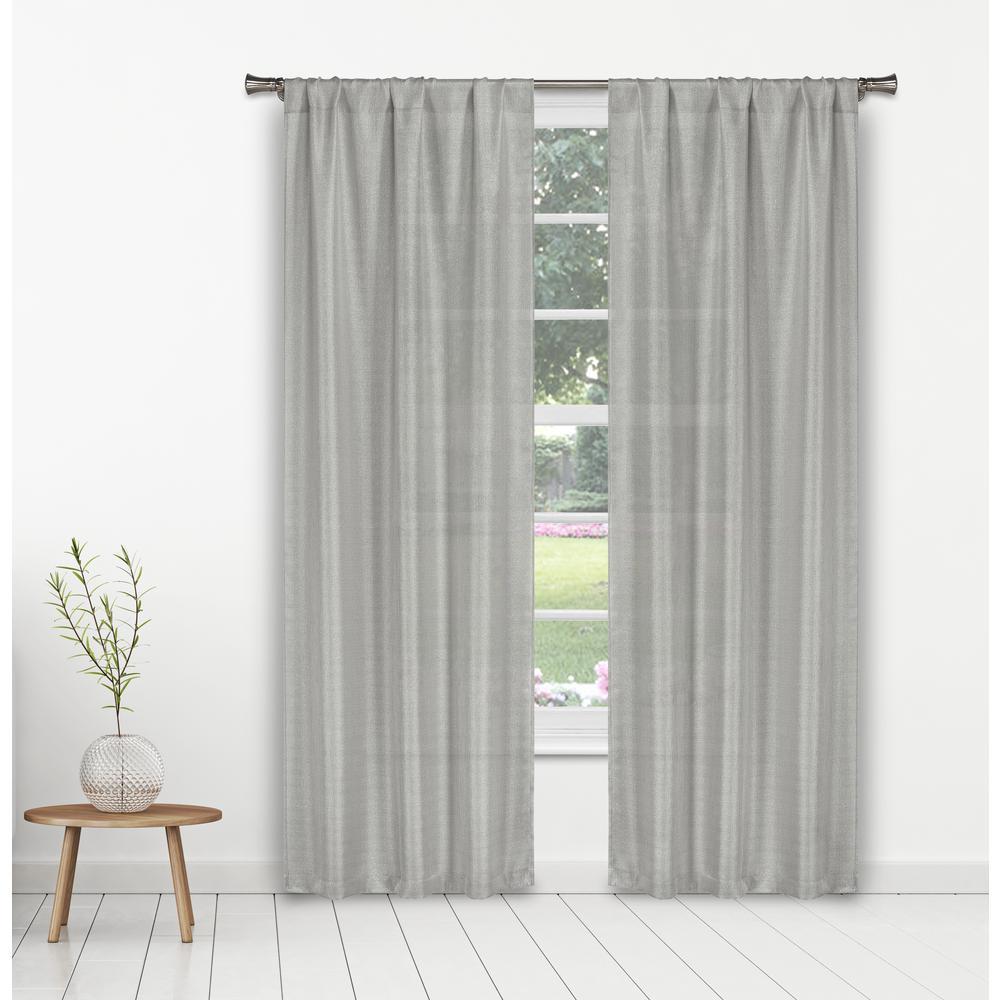 Kealy 38 in. W x 84 in. L Polyester Window Panel in Silver