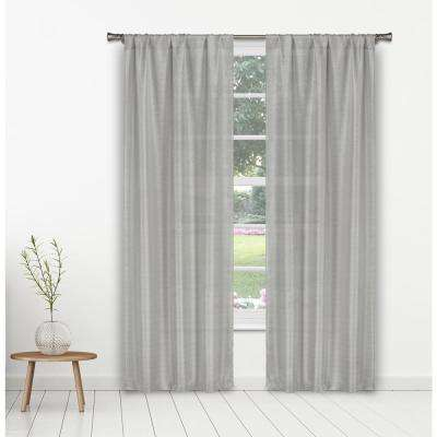Kealy 38 in. W x 84 in. L Polyester Window Panel in Silver
