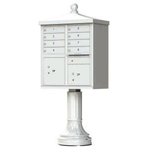 Florence 8 Mailboxes 2 Parcel Lockers 1 Outgoing Pedestal Mount Cluster Box Unit by Florence