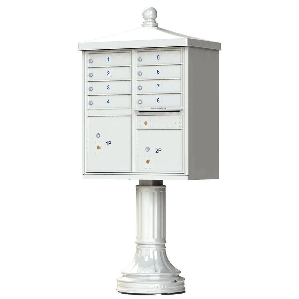 8 Mailboxes 2 Parcel Lockers 1 Outgoing Pedestal Mount Cluster Box Unit