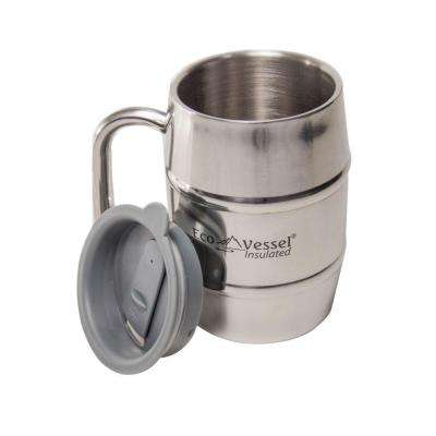 eco vessel double barrel 16 fl oz insulated stainless steel mug
