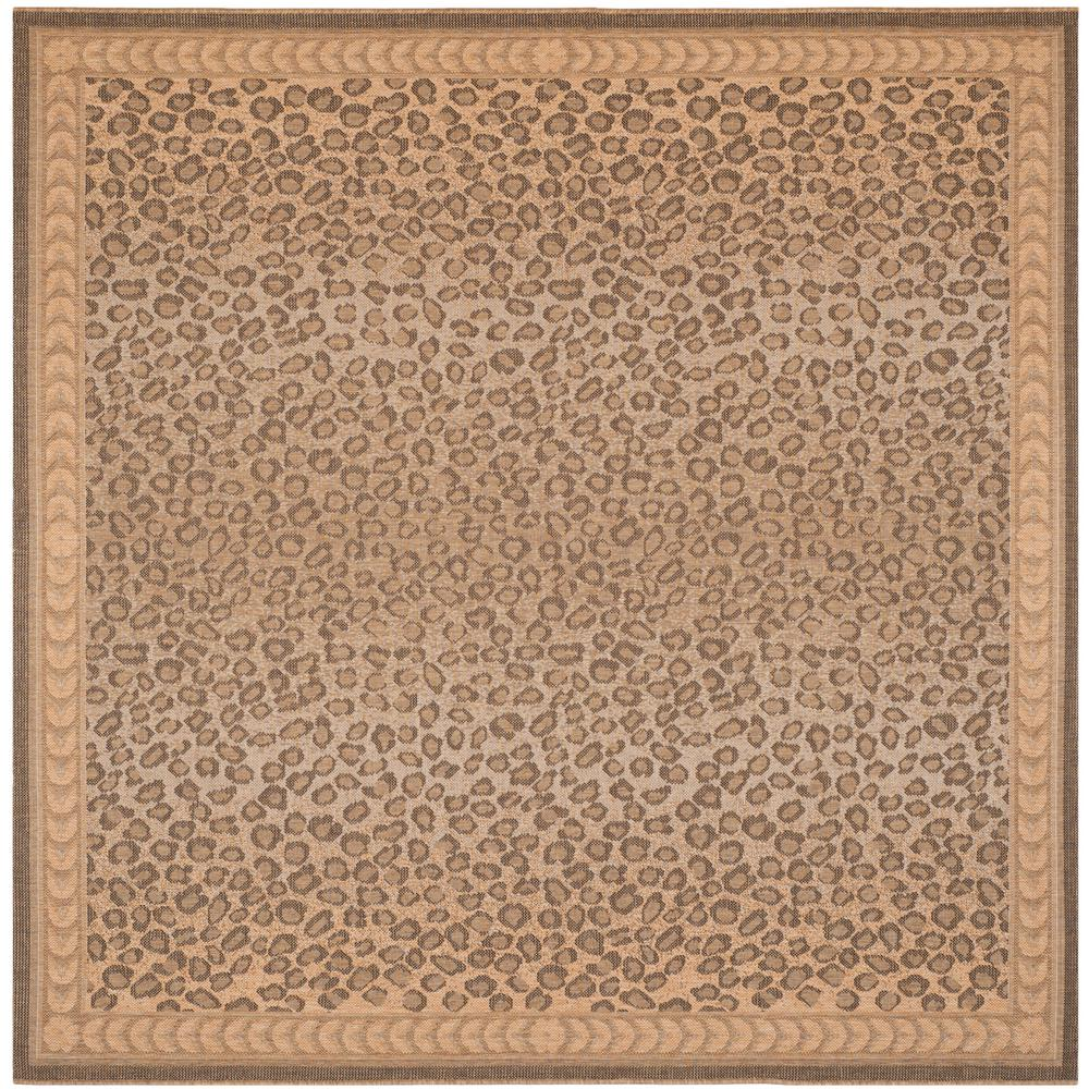 Safavieh Courtyard Natural Gold 7 Ft 10 In X 7 Ft 10 In