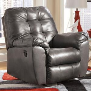 Wondrous Alliston Gray Leather Faux Leather Rocker Recliner Gamerscity Chair Design For Home Gamerscityorg