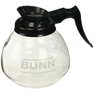 12-Cup Glass Decanter in Black