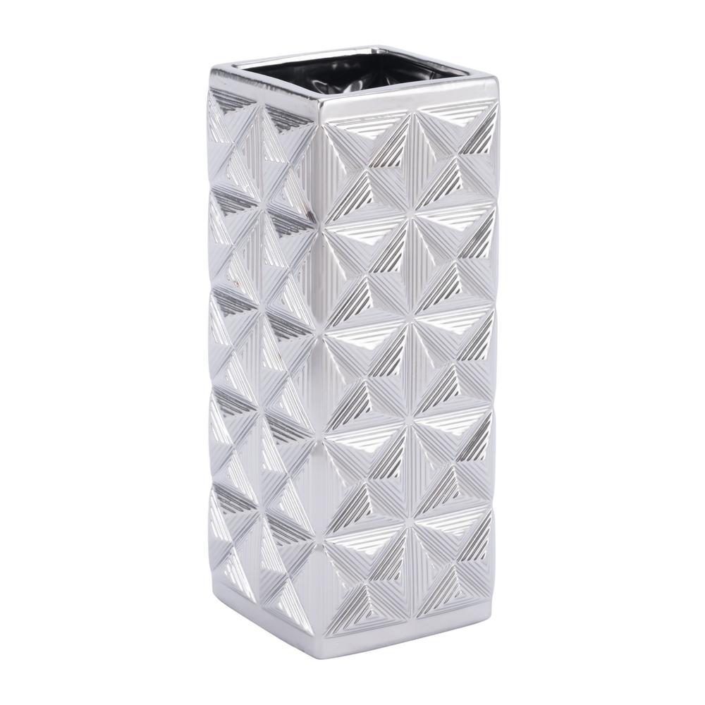 Silver Cosmos Medium Decorative Vase
