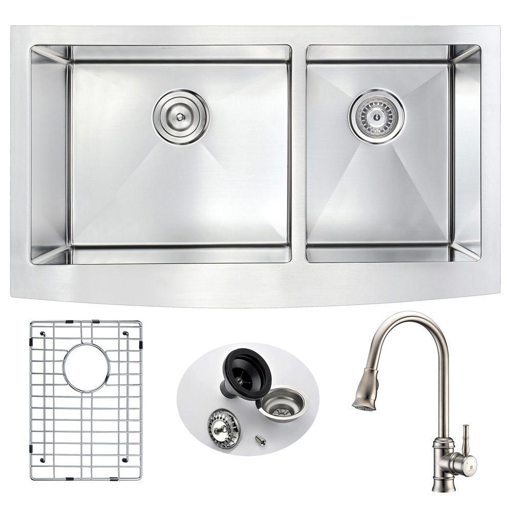 ANZZI ELYSIAN Farmhouse Stainless Steel 33 in. Double Bowl Kitchen on kitchen sink supply lines, kitchen sink angle stop, kitchen sink hole cover, kitchen sink hose adapter, kitchen sink curtains, kitchen sink basin rack, kitchen sink trim kit, kitchen sink drain assembly, kitchen sink faucet hose, kitchen sink rough-in, kitchen sink mixer taps, kitchen sink vacuum breaker, kitchen sink faucet aerator,