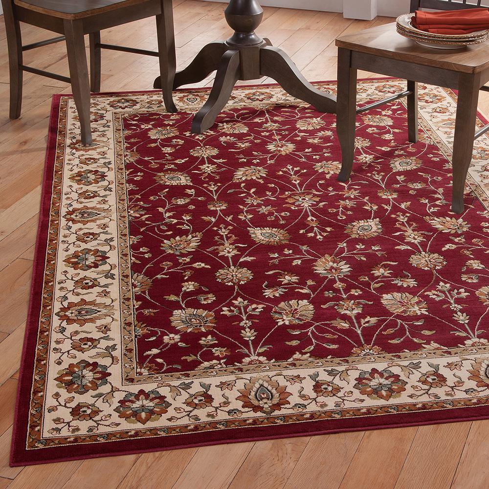Sams international sonoma valentino red 5 ft 3 in x 7 ft for International home decor rugs
