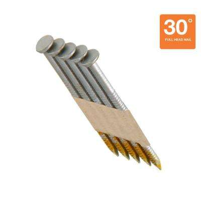 3 in. x 0.120 in. 30° Hot Dipped Galvanized Ring Shank Nails (4,000 per Pack)