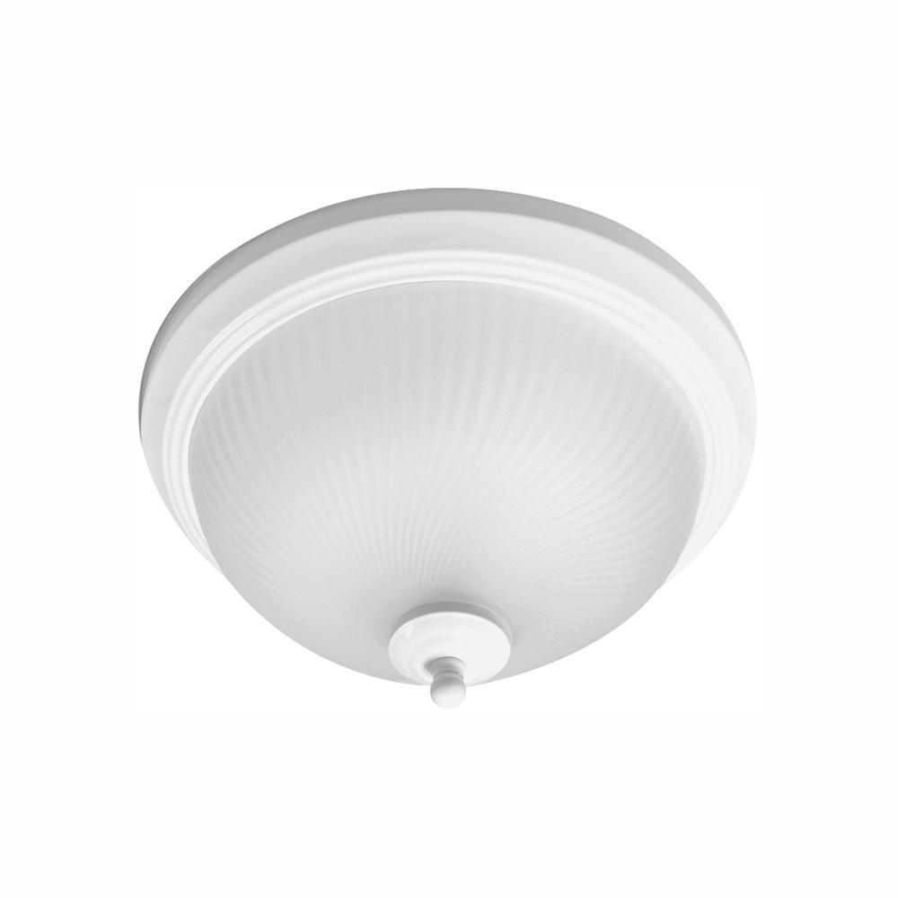 70-Watt Matte White Integrated LED Flush Mount (2-Pack)