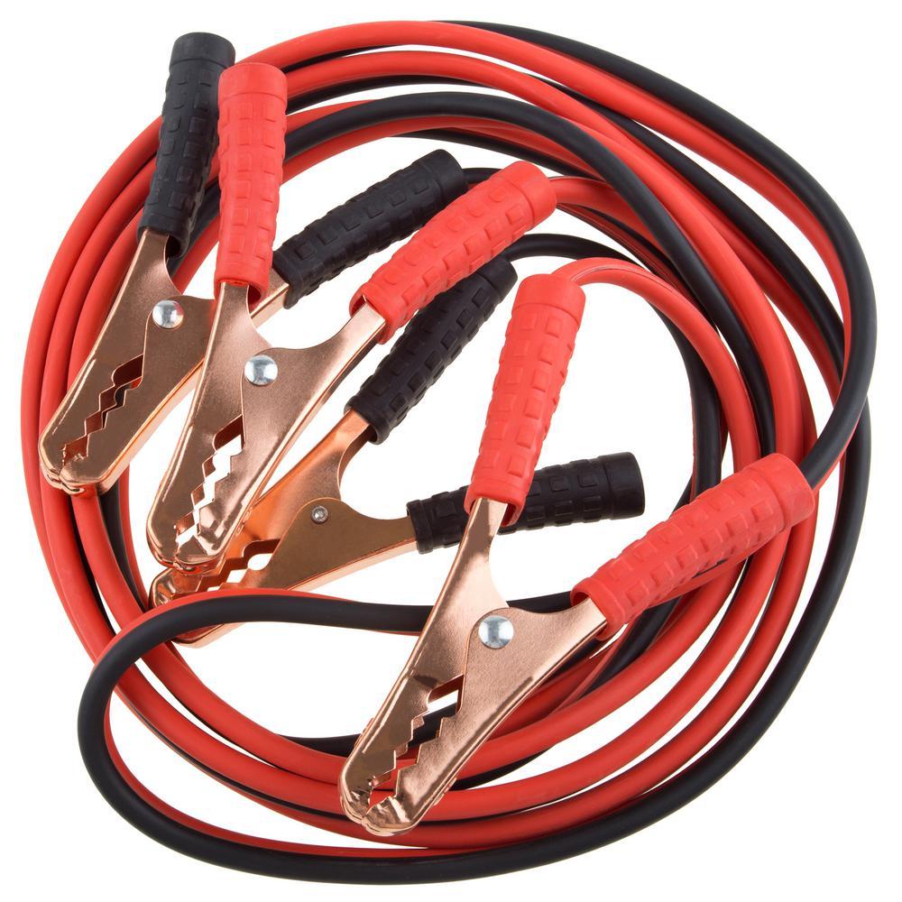 Stalwart 12 ft. 10-Gauge Jumper Cables-M600009 - The Home Depot