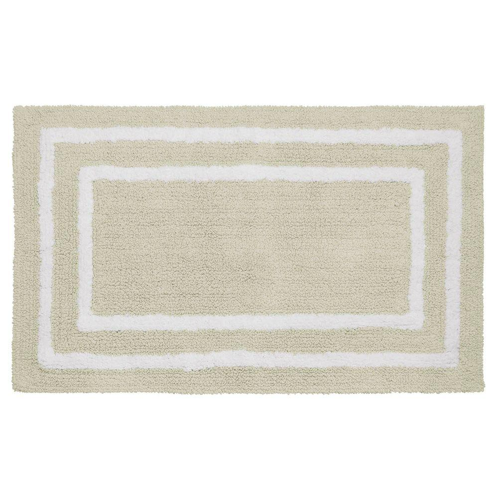 Reversible Cotton Soft Double Border Ivory 21 in. x 34 in.