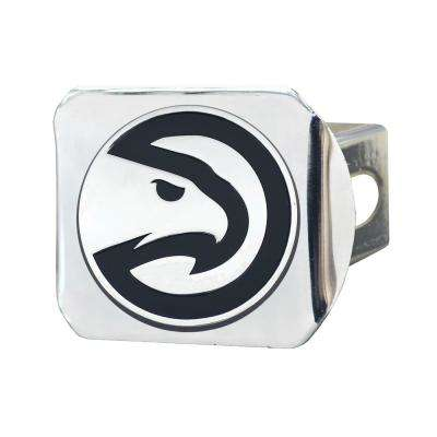 NBA-Atlanta Hawks 2 in. Type III Chrome Hitch Cover with Chrome Emblem
