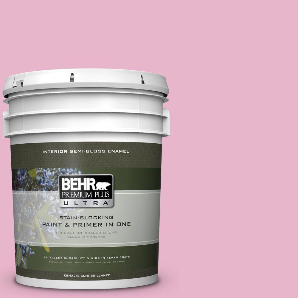 5 gal. #HDC-SP16-10 Japanese Rose Garden Semi-Gloss Enamel Interior Paint