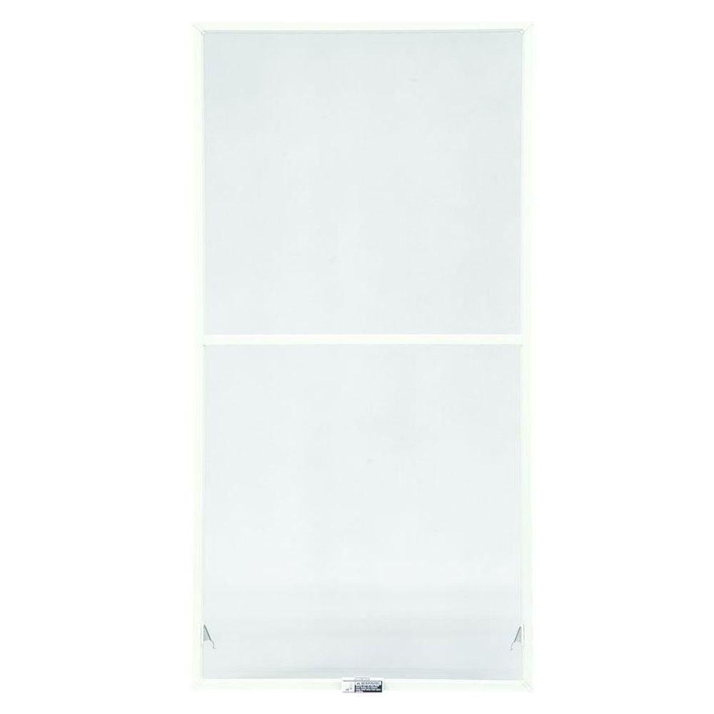 TruScene 19-7/8 in. x 46-27/32 in. White Stainless-Steel Double-Hung Insect