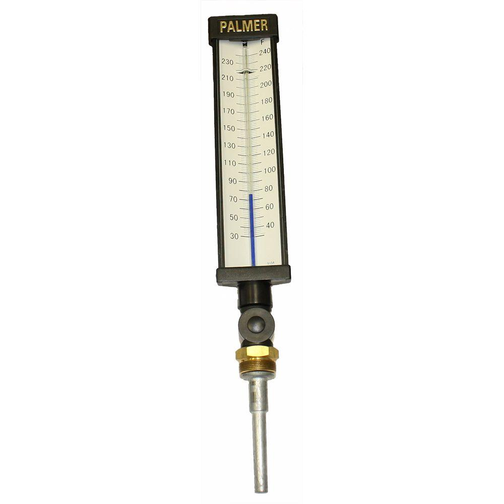 9 in. Scale Plastic Industrial Thermometer (30 to 240 Deg...