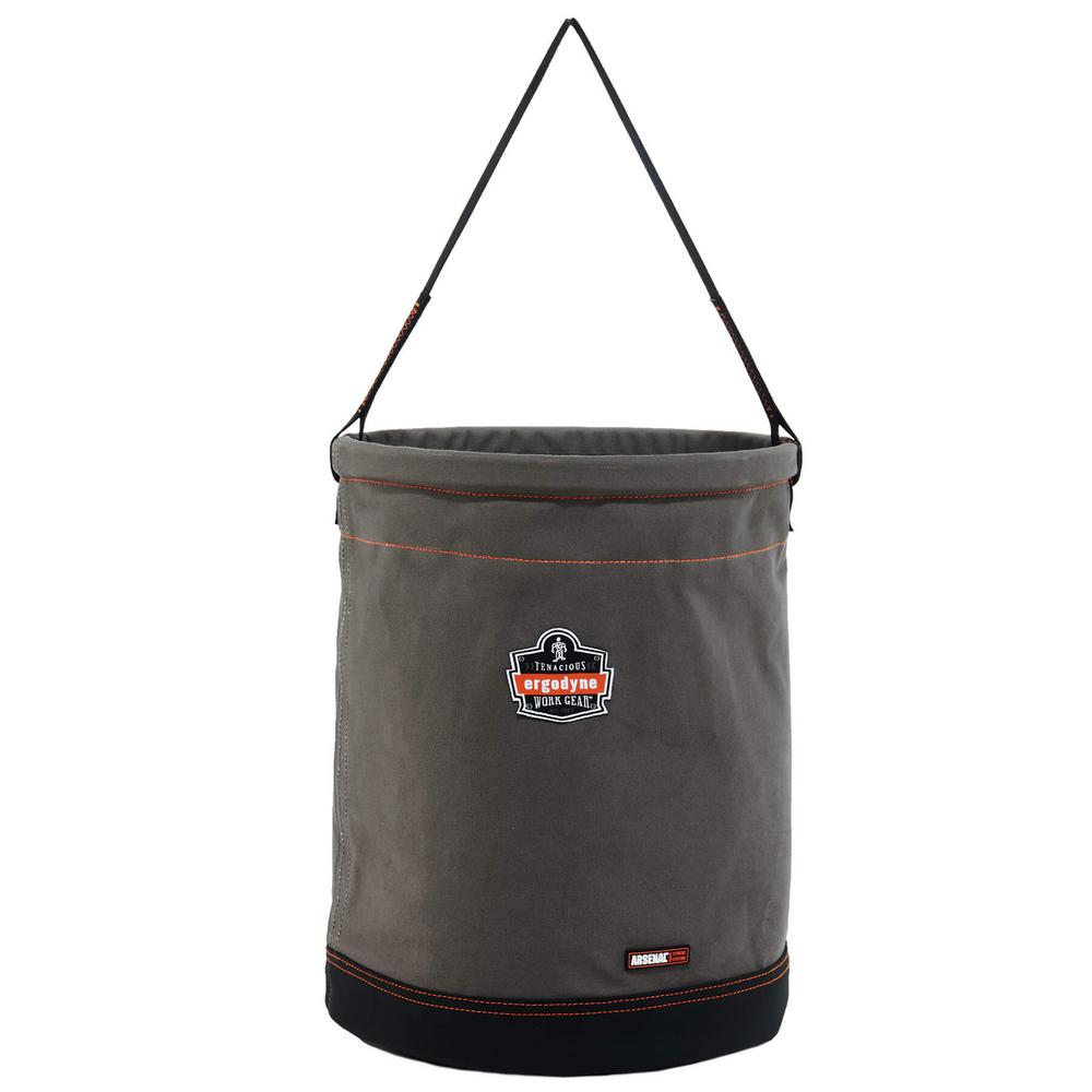Arsenal 16 in. Tool Bucket, Gray Canvas