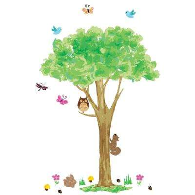 Multicolor Friendly Forest Wall Decals