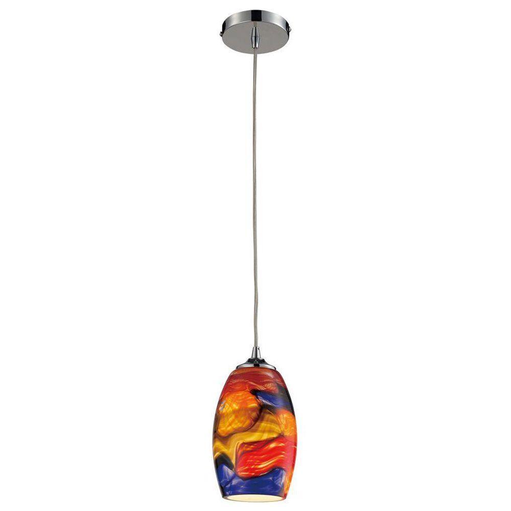 Titan Lighting Surrealist 1-Light Polished Chrome Ceiling Mount Pendant