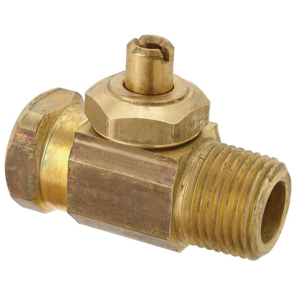 1/2 in. FIP x 1/2 in. MIP Brass Multi-Turn Integral Shut-Off