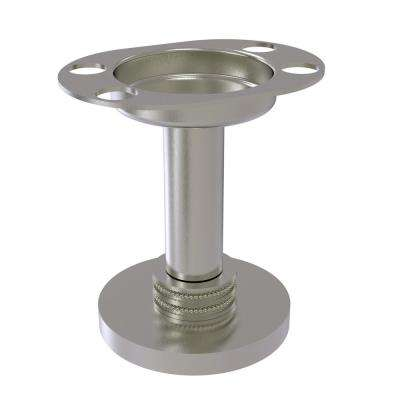 Vanity Top Tumbler and Toothbrush Holder with Dotted Accents in Satin Nickel
