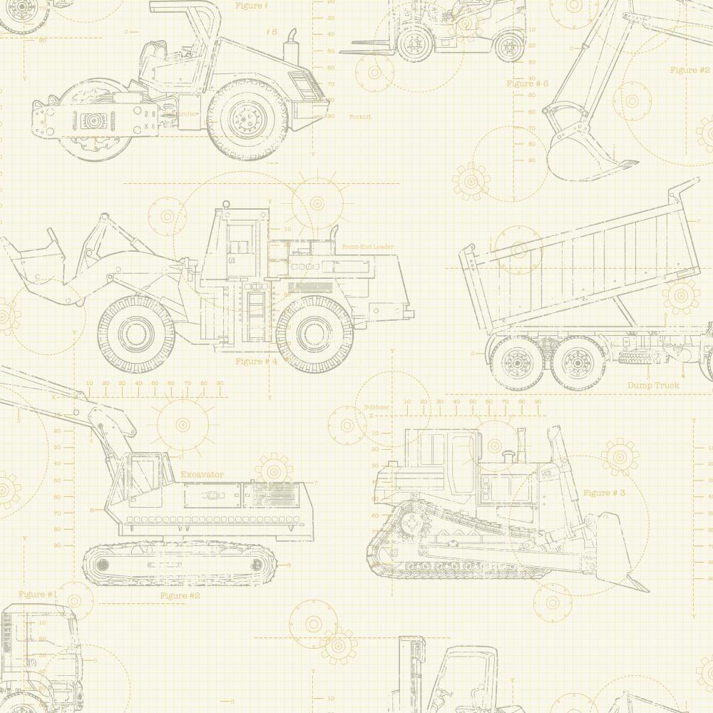 York wallcoverings cool kids construction blueprint wallpaper york wallcoverings cool kids construction blueprint wallpaper ks2354 the home depot malvernweather Image collections