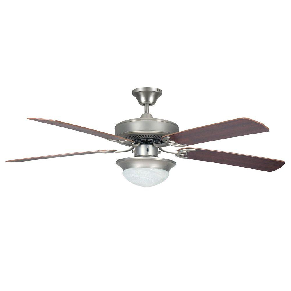Tech Lighting Home Depot: Radionic Hi Tech Ranch 52 In. Satin Nickel Ceiling Fan
