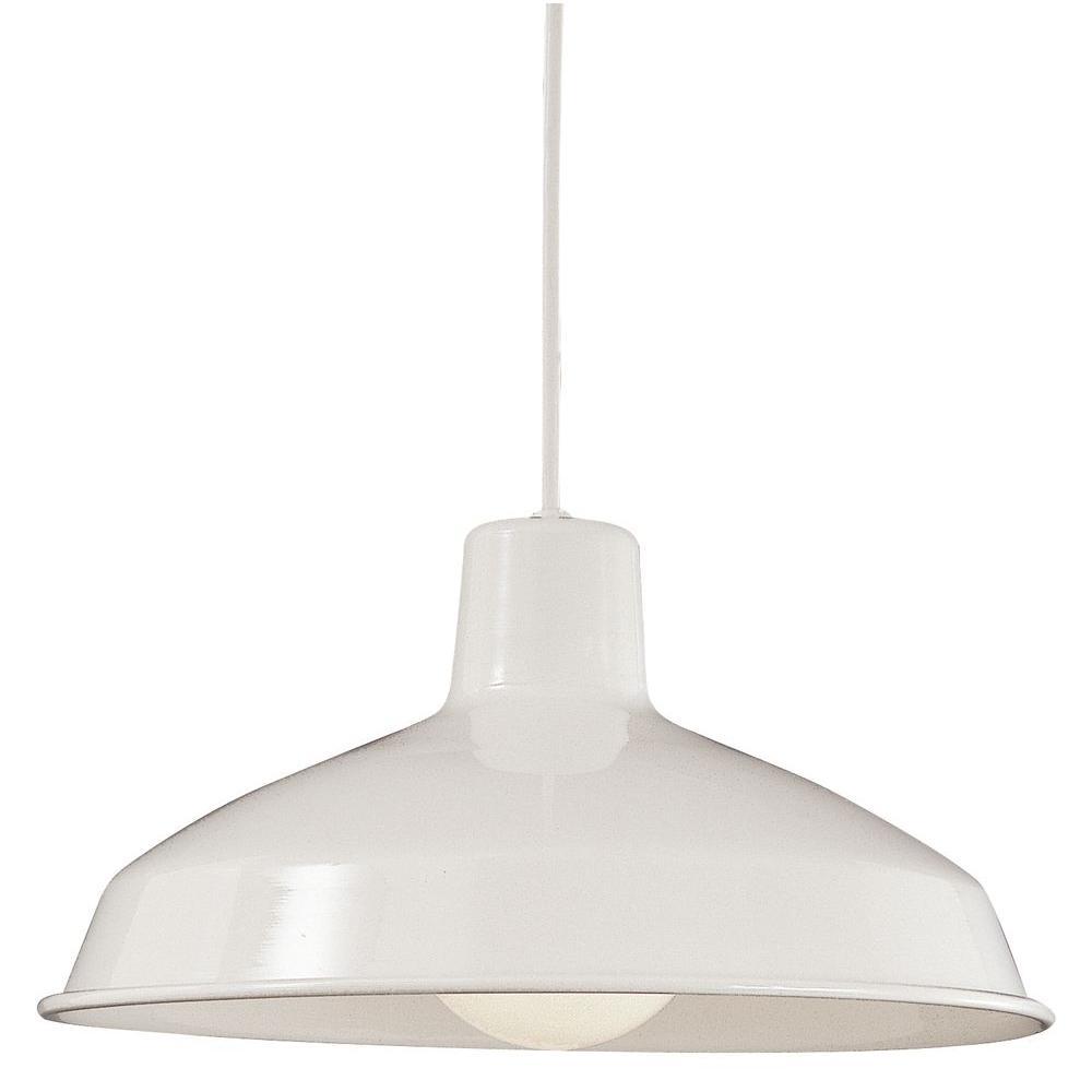Thomas Lighting 1-Light Hanging Matte White Pendant-DISCONTINUED