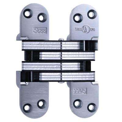 1-3/8 in. x 5-1/2 in. Satin Chrome 20 Minute Fire Rated Invisible Hinge