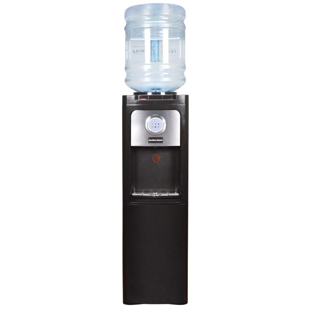 Hamilton Beach Top Loading Hot and Cold Water Dispenser with Storage Cabinet