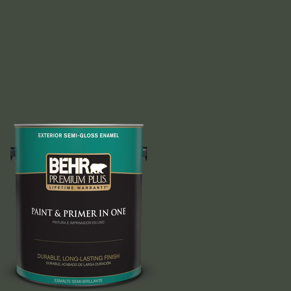 1-gal. #BXC-12 Deep Forest Semi-Gloss Enamel Exterior Paint