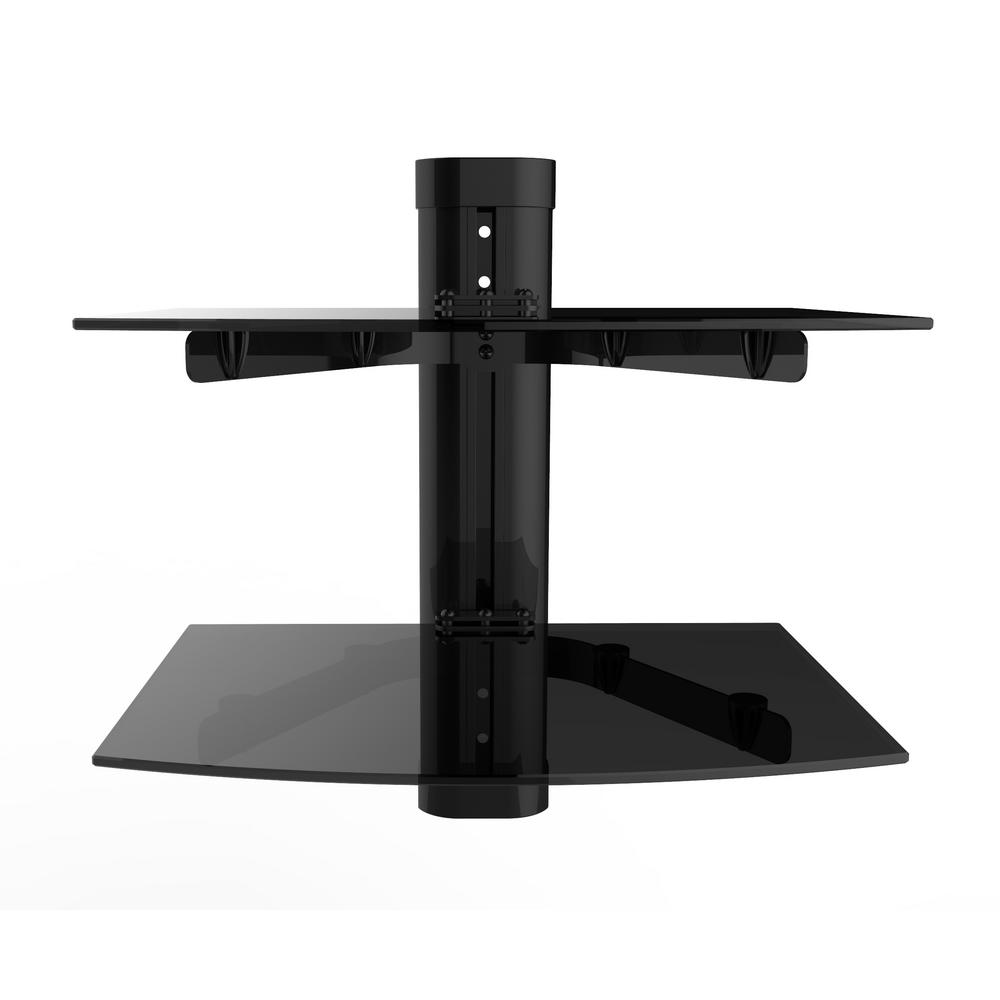 Fino AV Component Double Shelf Wall Mount Bracket