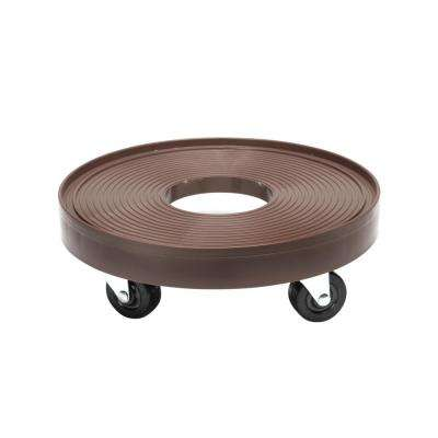 12 in. Round HDPE Espresso Plant Dolly/Caddy with Hole
