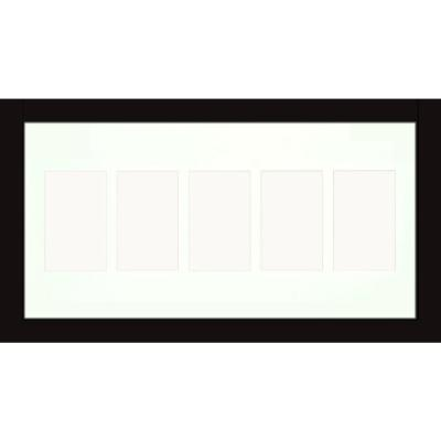 5-Opening Holds (5) 4 in. x 6 in. Matted Black Photo Collage Frame (Set of 2)