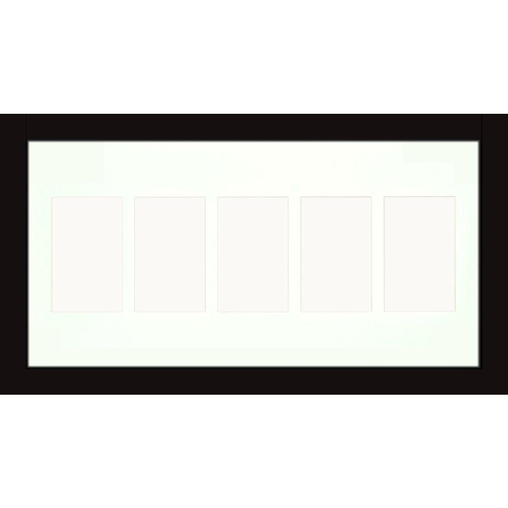PTM Images 5-Opening Holds (5) 4 in. x 6 in. Matted Black Photo ...